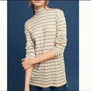 Anthropologie Vanessa Virginia Hi-low Stripe Tunic